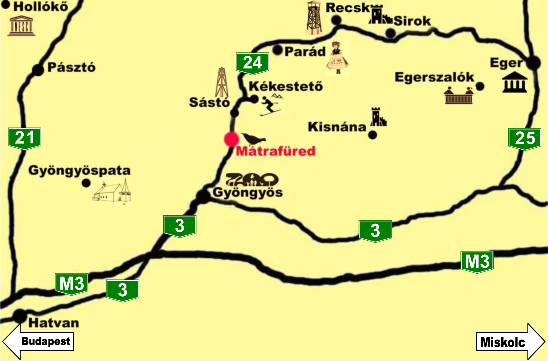 mátrafüred térkép Feketerigó   Térkép mátrafüred térkép
